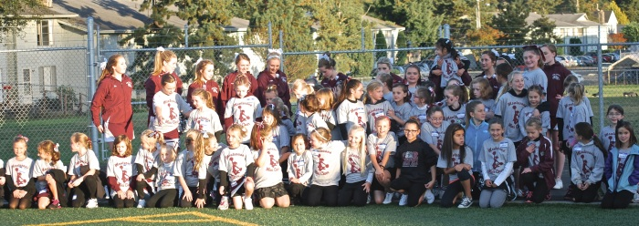 The Montesano Mini Cheer entertained the crowd during halftime.  Lots of fun!